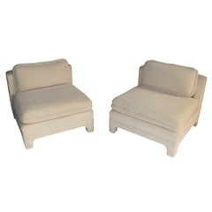 Pair of Large Scale Slipper Chairs by Interior Crafts, circa 1980s