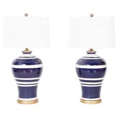 Pair of Large Scale Vintage Ralph Lauren Table Lamp