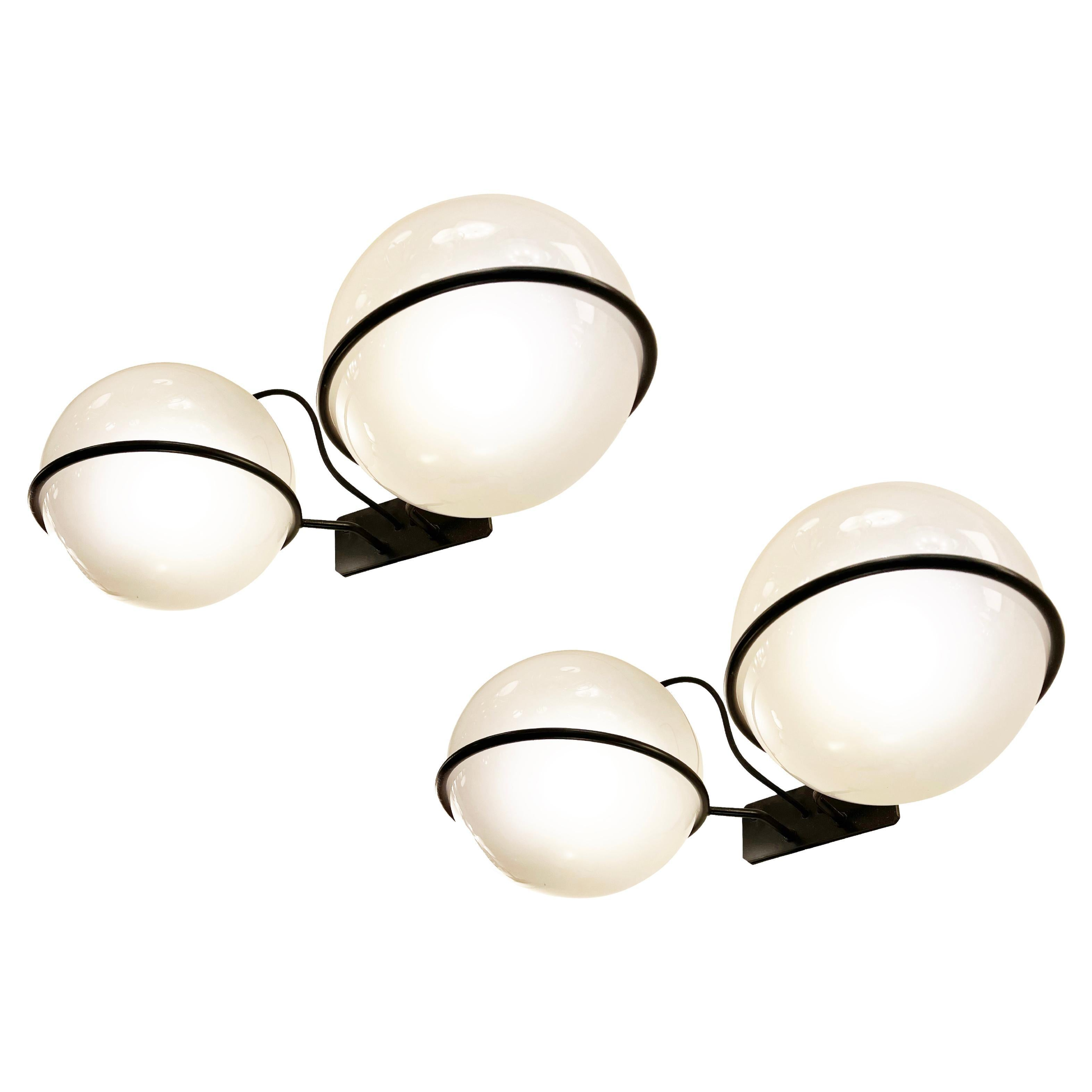 Pair of Large Sconces by Gino Sarfatti for Arteluce