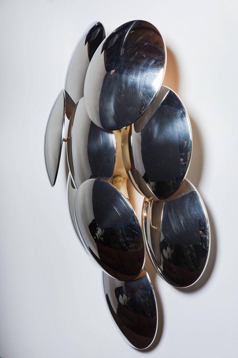 Italian Pair of Large Sconces by Goffredo Reggiani For Sale