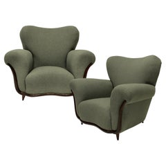 Pair of Large Sculptural Armchairs by Ulrich