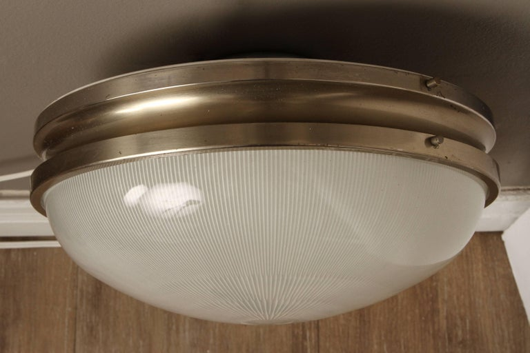 Mid-20th Century Pair of Large Sergio Mazza 'Sigma' Wall or Ceiling Lights for Artemide, 1960s For Sale