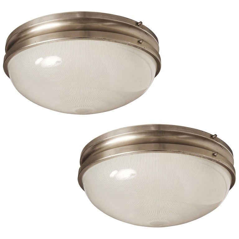 Pair of Large Sergio Mazza 'Sigma' Wall or Ceiling Lights for Artemide, 1960s For Sale