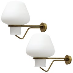 Pair of Large Swedish Wall Lights by Gunnar Asplund for ASEA, 1950