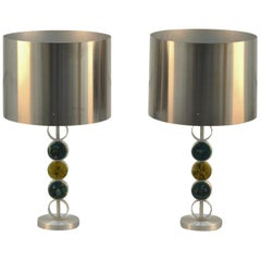 Pair of Large Table Lamps by RAAK 1970's Attributed to Nanny Still