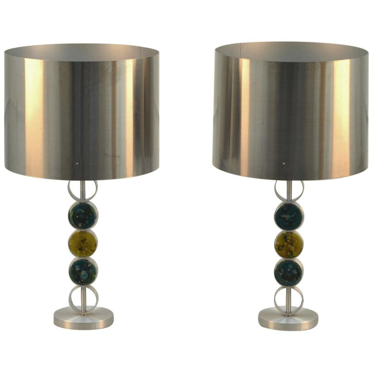 Pair of Large Table Lamps by RAAK 1970's Attributed to Nanny Still For Sale