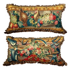 Pair of Large Tapestry Cushions, Early 18th Century