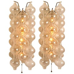 Pair of Large Tulipan Wall Lamps or Sconces by J.T. Kalmar 'H 21.2', 1960s