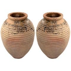 Pair of Large Tuscan Terra Cotta Jars, circa 1820