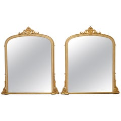 Pair of Large Victorian Wall Mirrors