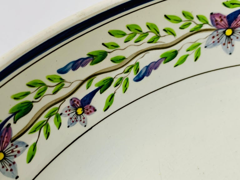 Earthenware Pair of Large Wedgwood Bowls Made in England, circa 1820 For Sale