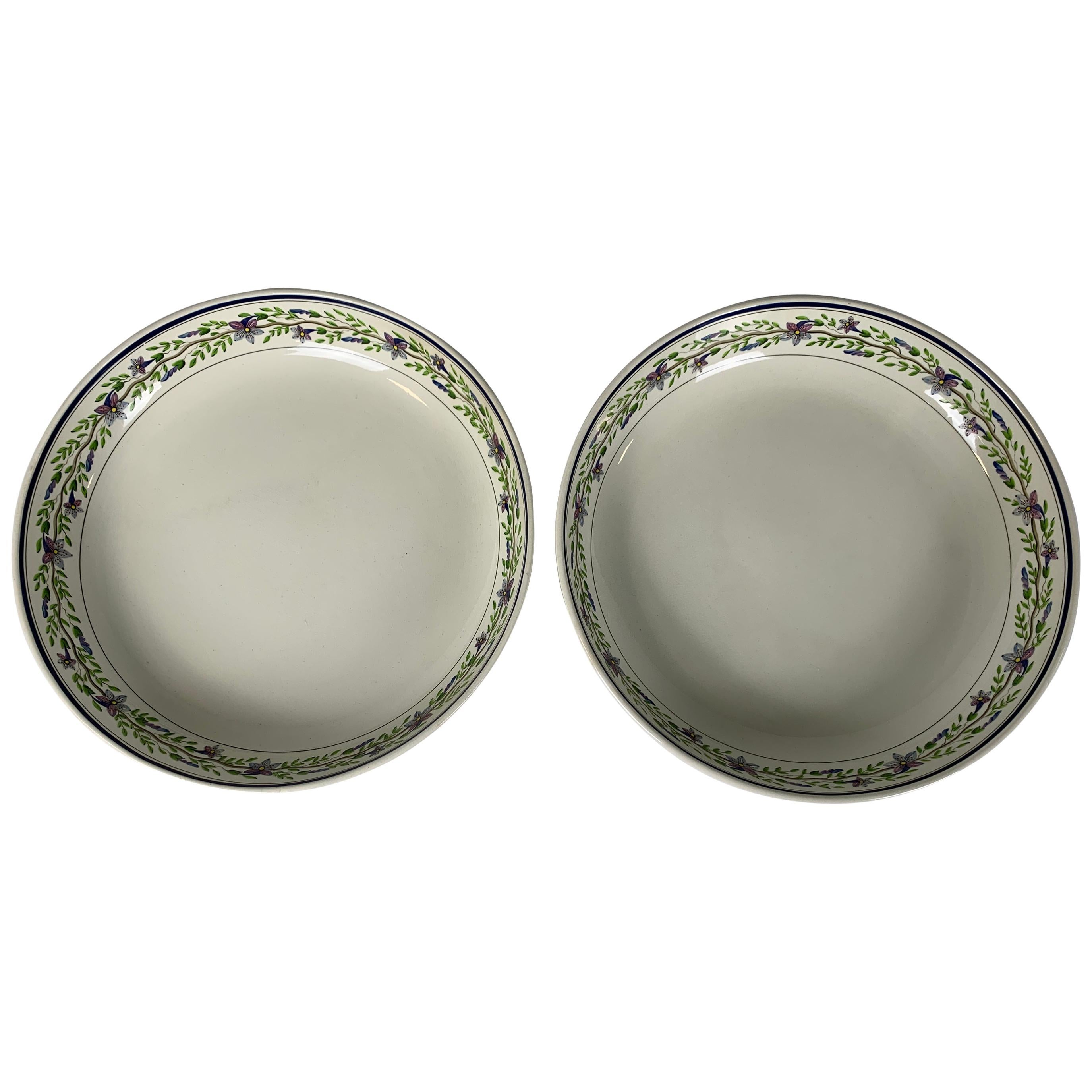 Pair of Large Wedgwood Bowls Made in England, circa 1820