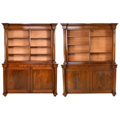 Pair of Large William IV Bookcases in West Indies Mahogany, England, circa 1830