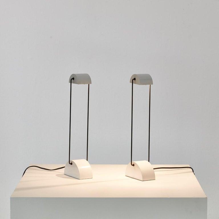 Post-Modern Pair of Laser Model 1050 Lamps for Bilumen, Italy, 1987 For Sale
