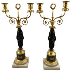Pair of Late 18th Century Candelabras