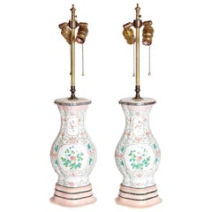 Pair of Late 18th Century Chinese Vases as Lamps