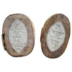 Pair of Late 18th Century English Wax Matrix Document Seals