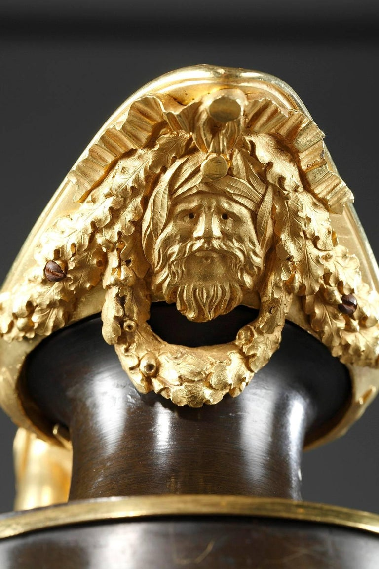 Pair of Late 18th Century Gilt and Patinated Bronze Ewers For Sale 2