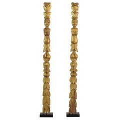 Pair of Late 18th Century Italian Giltwood Baroque Ornaments