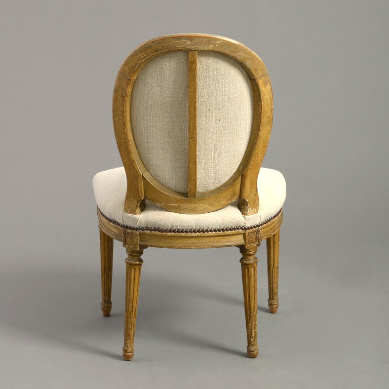 Pair of Late 18th Century Louis XVI Period Painted Side Chairs In Good Condition For Sale In London, GB