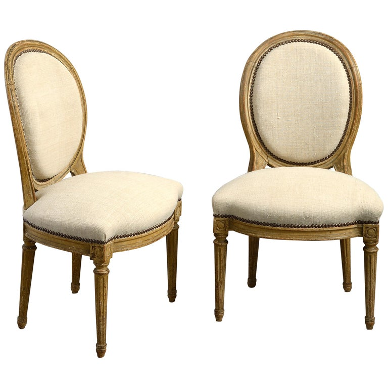 Pair of Late 18th Century Louis XVI Period Painted Side Chairs For Sale