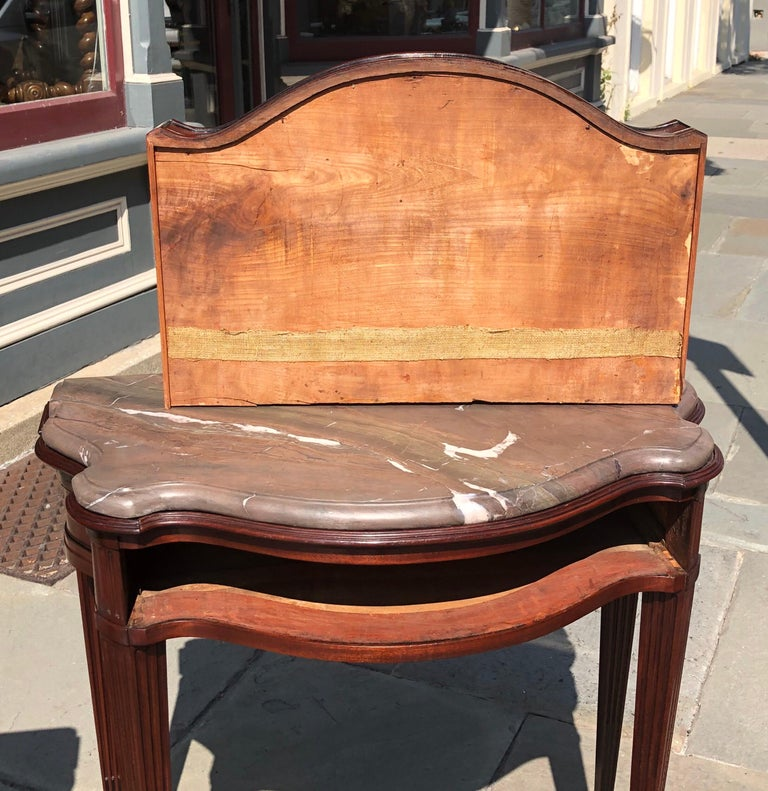 Pair of Late 18th Century Mahogany and Marble English Console Tables For Sale 8