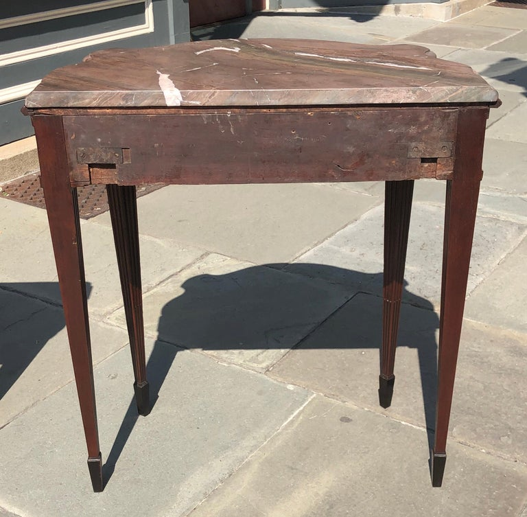 Pair of Late 18th Century Mahogany and Marble English Console Tables For Sale 9