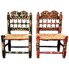 Pair of Late 18th Century Spanish Side Chairs