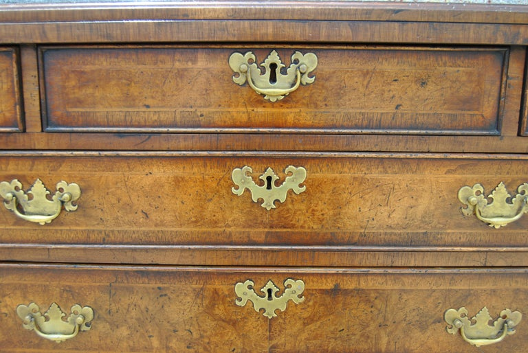 Pair of Late 18th-Early 19th Century English Walnut Bachelor's Chests For Sale 4