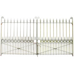 Pair of Late 19th Century Antique Wrought Iron Driveway Gates