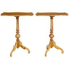 Pair of Late 19th Century Birch Occasional Tables