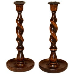 Pair of Late 19th Century Candlesticks