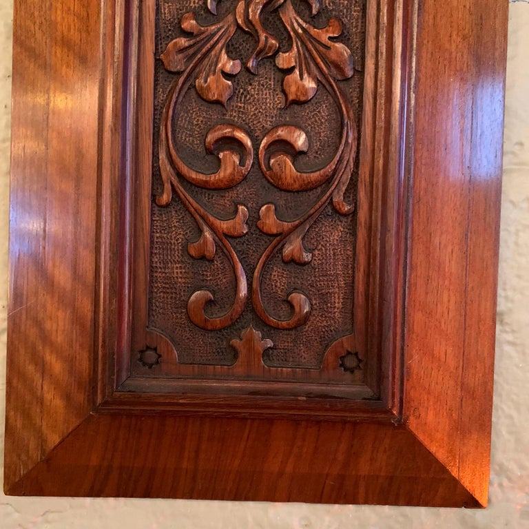 Pair of Late 19th Century Carved Mahogany Gargoyle Panels For Sale 4