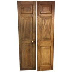 Pair of Late 19th Century Ceylonese Solid Satinwood Paneled Interior Doors