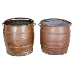 Pair of Late 19th Century Copper Buckets