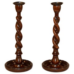 Pair of Late 19th Century English Candlesticks