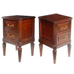 Pair of Late 19th Century French Mahogany Bedside Chests