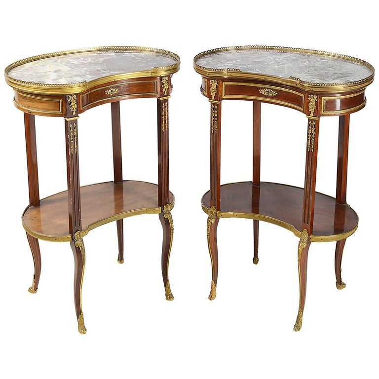 Pair of Late 19th Century French Side Tables For Sale