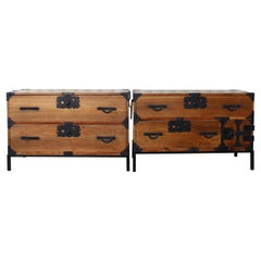 Pair of Late 19th Century Japanese Tansu Chests
