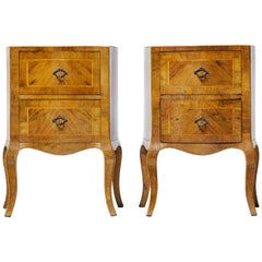 Pair of Late 19th Century Maltese Walnut Bedside Commodes