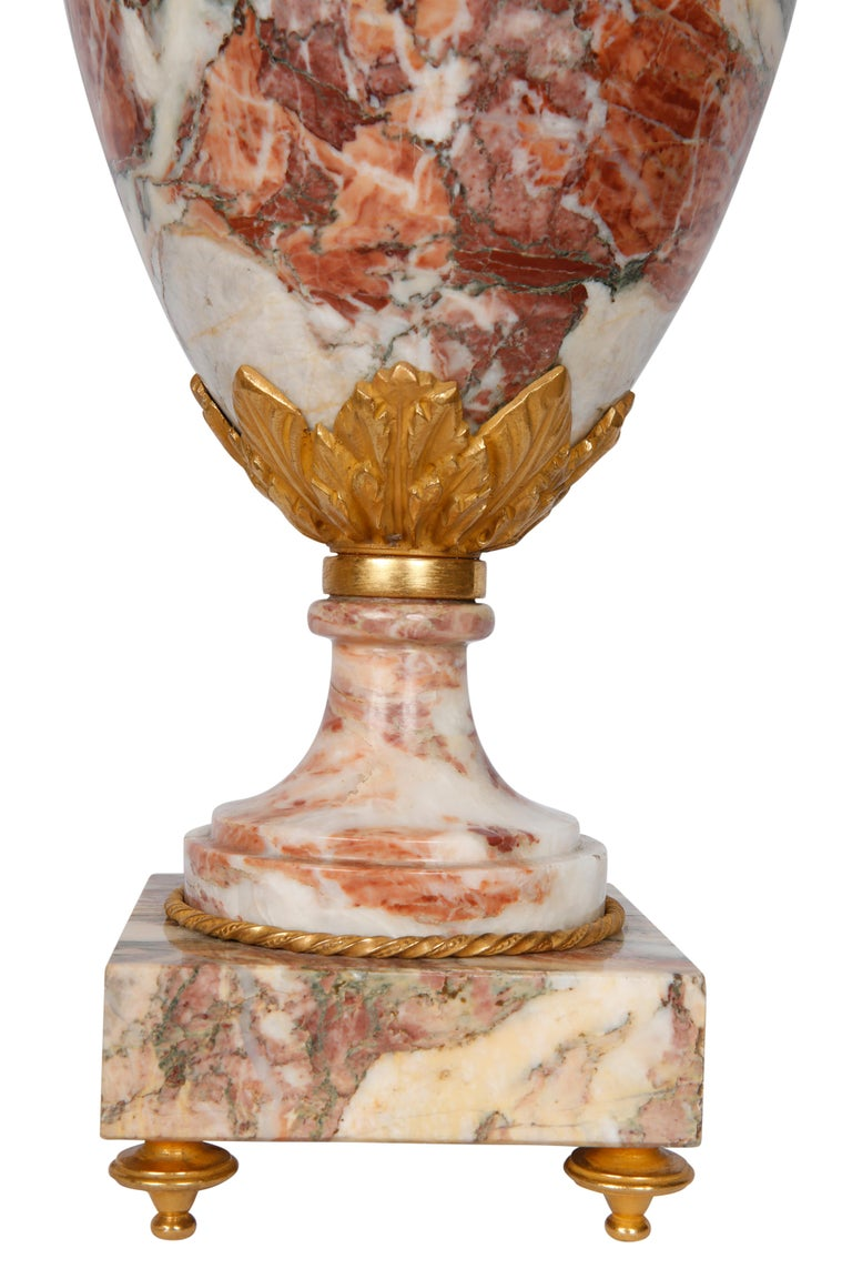 Pair of Late 19th Century Marble Table Lamps For Sale 1