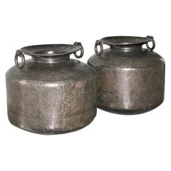 Pair of Late 19th Century Museum Quality Copper Vessels from Gujarat