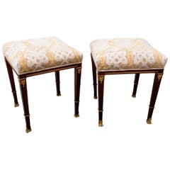 Pair of Late 19th Century Neoclassical Style Footstools