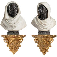 Pair of Late 19th Century Nubian Figures by Caccia and Dasson