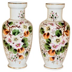 Pair of Late 19th Century Opaline Glass Vases