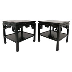 Pair of Late 19th Century Qing Dynasty Rosewood Stools or End Tables