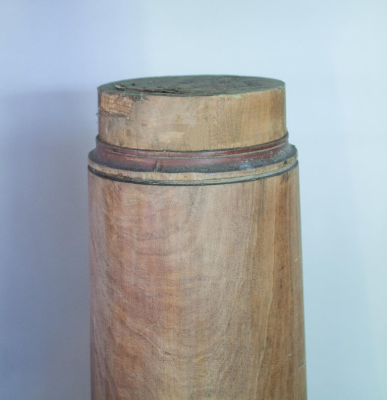 Pair of Late 19th Century Satin Wood Columns For Sale 3