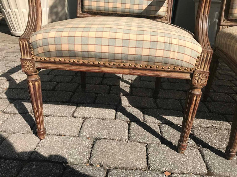 Pair of Late 19th-Early 20th Century Louis XVI Armchairs For Sale 7