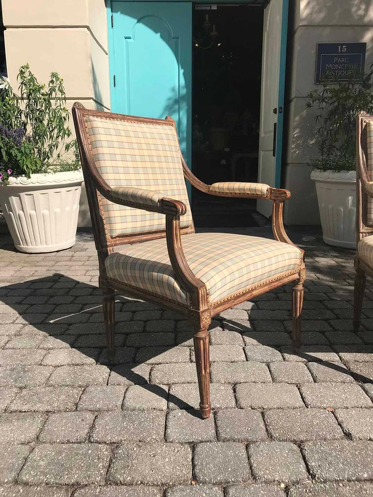 Pair of Late 19th-Early 20th Century Louis XVI Armchairs In Good Condition For Sale In Atlanta, GA