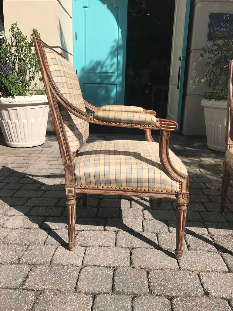 Pair of Late 19th-Early 20th Century Louis XVI Armchairs For Sale 1